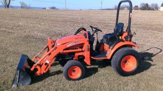 2009 Kioti Ck20s Compact Tractor W/ Kl120 Loader.  One Owner.  Machine photo