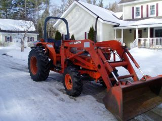 1991 Kubota L3750 45hp 5 Cylinder Diesel 4x4 W/loader photo