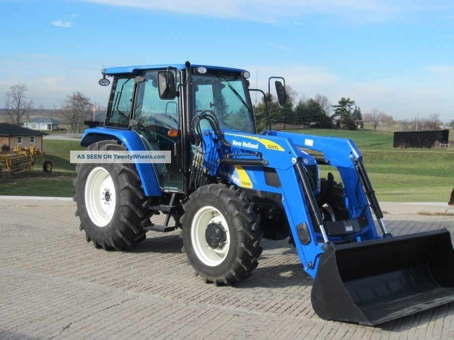 2010 Holland T5050 4wd Tractor W Loader