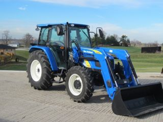 2010 Holland T5050 4wd Tractor W Loader photo