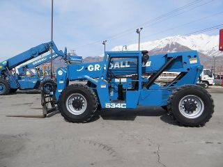 Forward Reach Forklift Gradall 534c9 - 40 4x4 9,  000 Lb Cummins Diesel Only 500 Hr photo