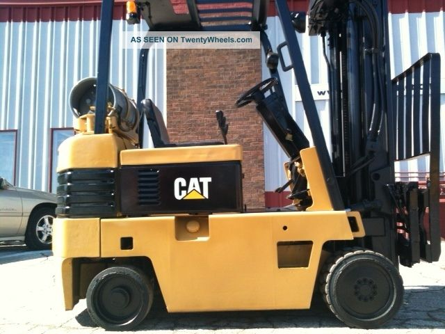 Caterpillar Cushion 5000 Lb T50e Forklift Lift Truck