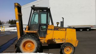 Case 586d Rough Terrain Forklift Cab Diesel photo