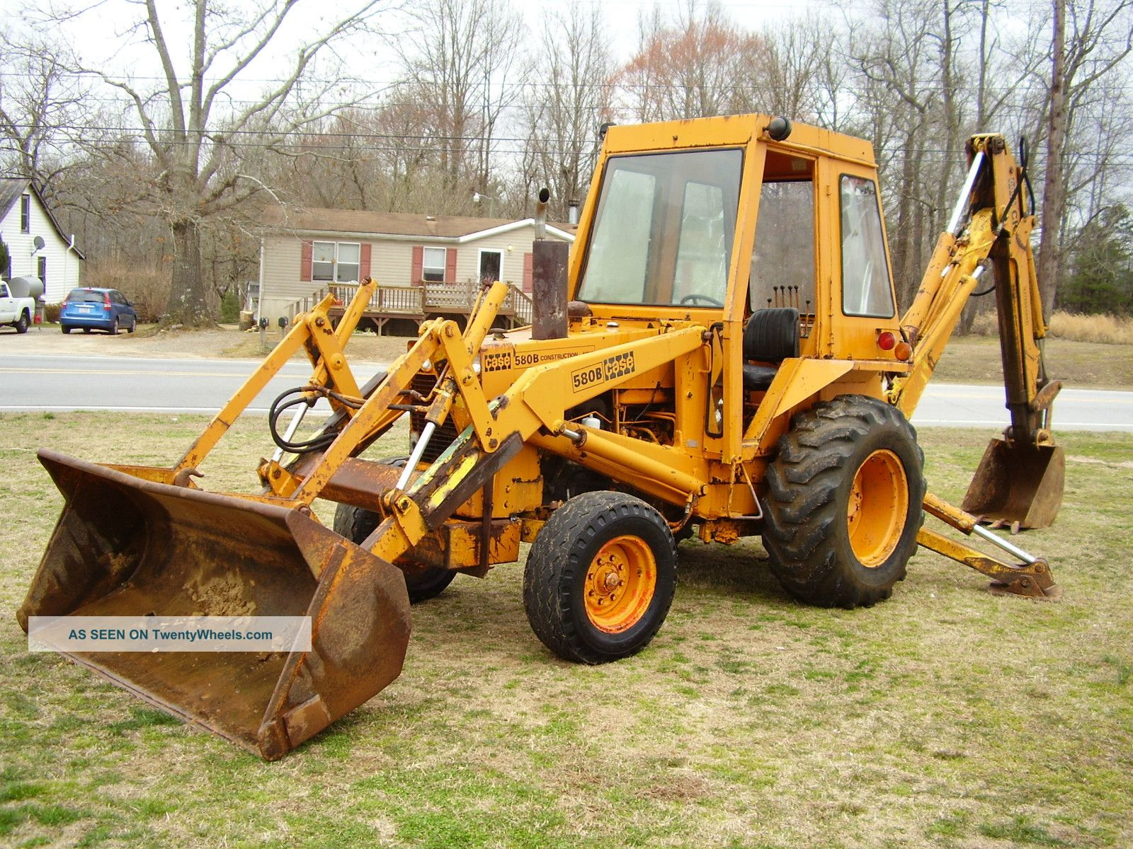 Case 580 B Extendhoe Loader Backhoe Good Farm Machine Backhoe Loaders photo