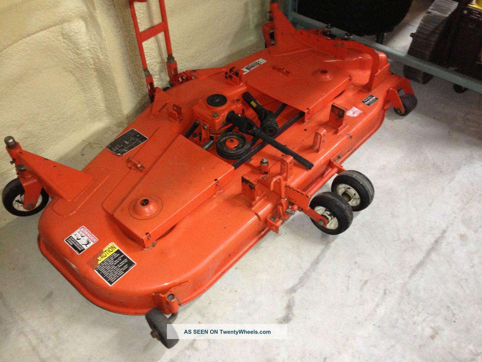 Kubota Mower Blades : Kubota b hst w loader belly mower box blade