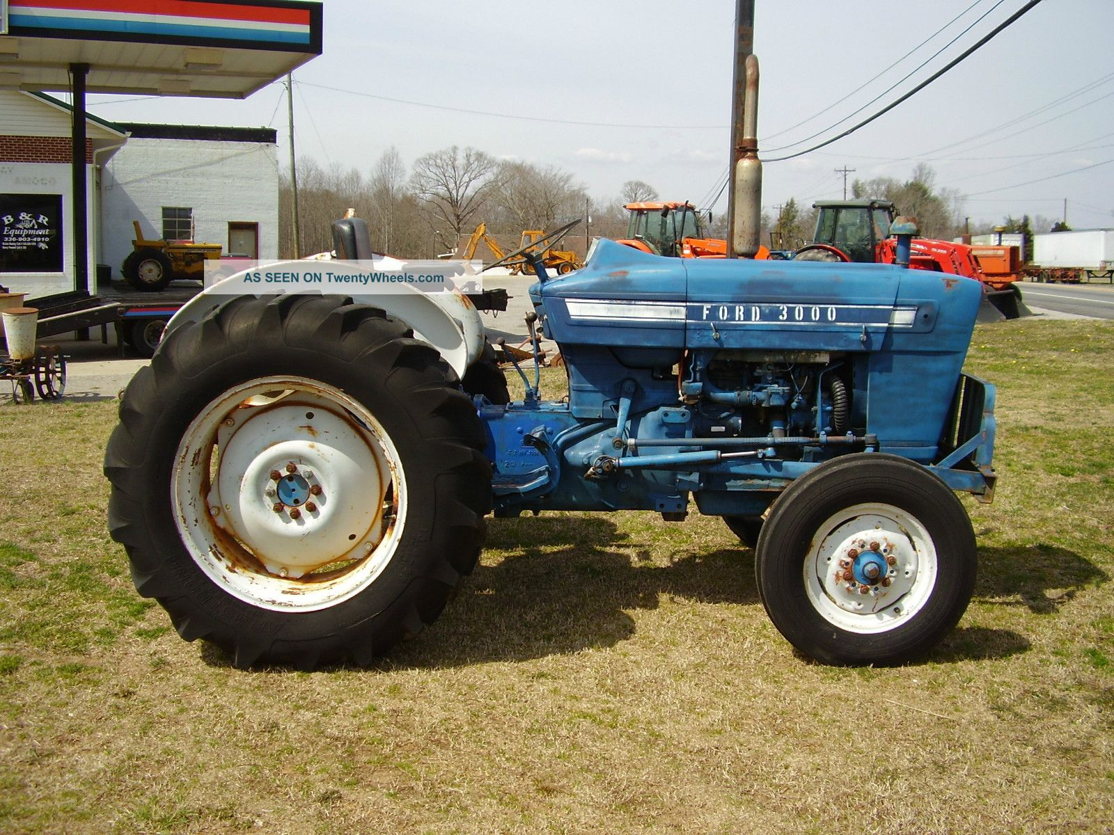 Ford 3000 Gas : Ford tractor turbine
