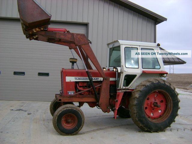 Ih 856 Tractor : International farmall tractor w cab loader m