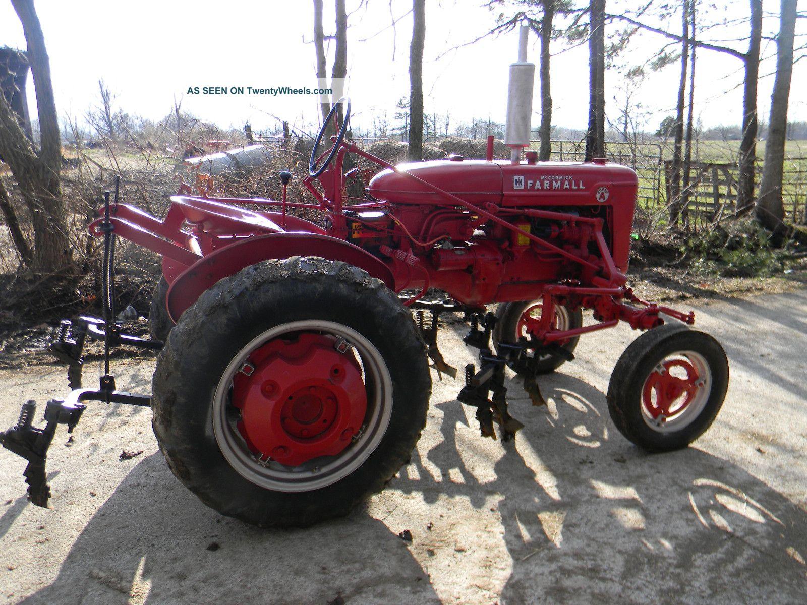 Farmall Super A Cultivator : Farmall a tractor w cultivators