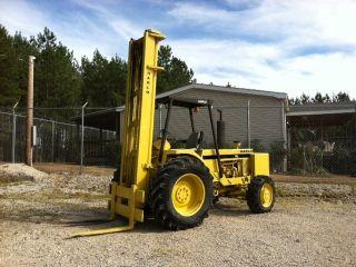Harlo 5,  000 Diesel Straight Mast Forklift 4x4 28 Feet Lift Height photo
