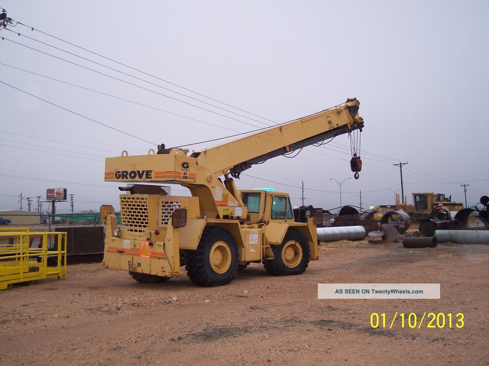 20 Ton Grove Rt58d Rough Terrain Crane Rough Terrain