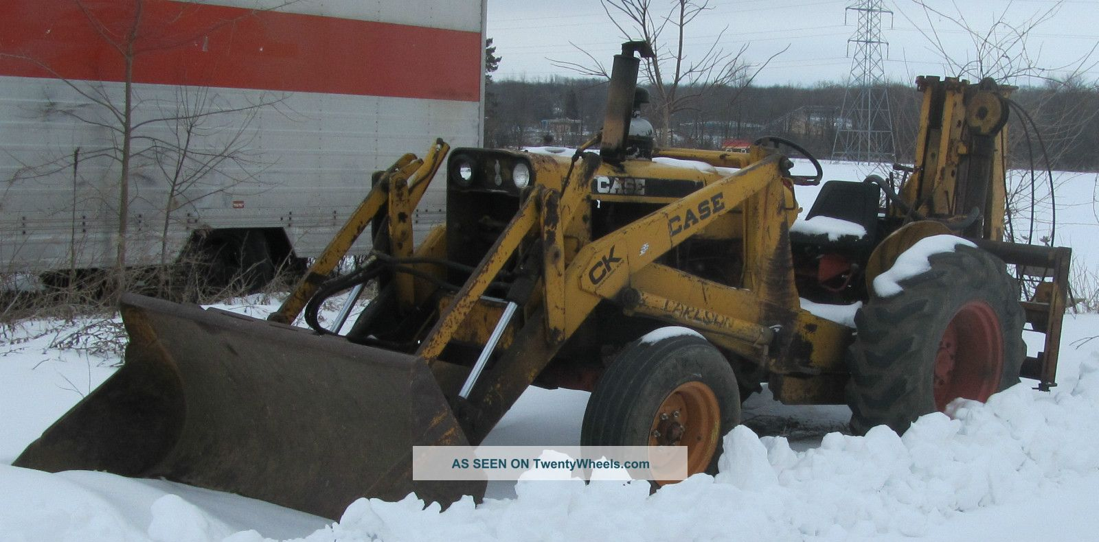 1969 Case 580ck With Bucket & Bradco Hammer Backhoe Loaders photo