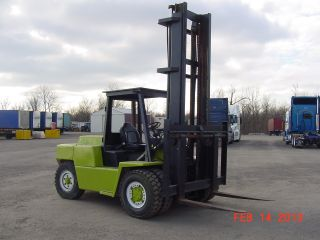 Clark Forklift 15,  000lbs Lift,  Tall Single Stage Mast Lifts 16 ' High,  4 ' Forks photo