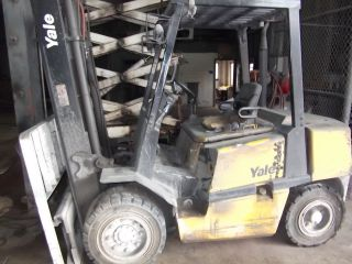 Forklift Yale 8000 Pneumatic Tires Diesel Mazda Two Speed Trannyside Shift photo