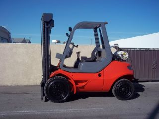 Linde Forklift 10000lb Pneumatic Tire Paint Perkins Engine Lp 4 Way Valve photo