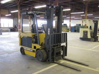 2002 Caterpillar M80 8000 Lb Capacity Electric Forklift Lift Truck photo