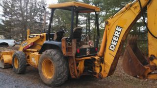 2002 John Deere 310 Se 4x4 Backhoe Great Shape photo