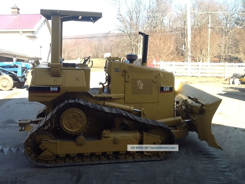 Caterpillar D4h Dozer Loader Cat Crawler Diesel Tractor D 4 Loader High Track Crawler Dozers & Loaders photo