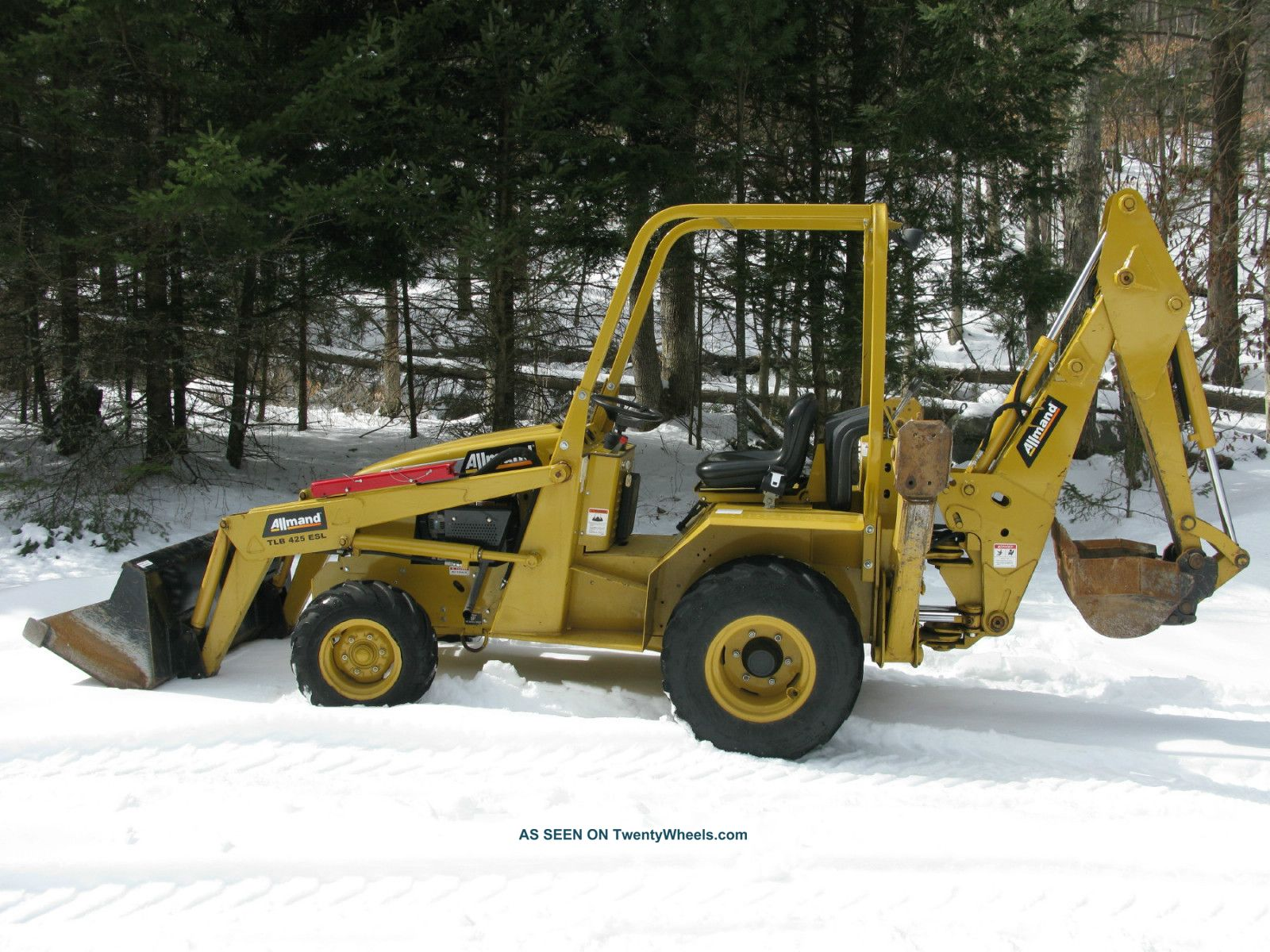 2011 Allmand Tlb425 Esl Tractor Loader Backhoe - Excellent Machine Crawler Dozers & Loaders photo