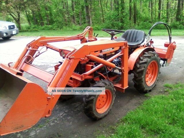 Kubota Tractor Hydraulic Blade : Kubota b tractor loader case hydraulic tiller