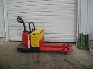 Raymond Electric Pallet Jack - T112 - Ride On - 6,  000 Lb Capacity photo