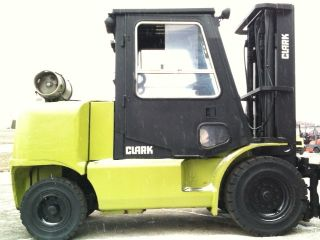 Clark Pneumatic 12,  000 Lb Cgp55 Full Cab Forklift Lift Truck photo