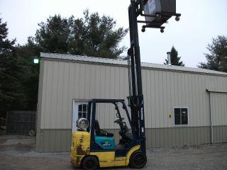 2002 Komatsu Fg 25st - 12 Forklift 3 Stage 188 Inch 4500 Pound Lift Side Shift photo
