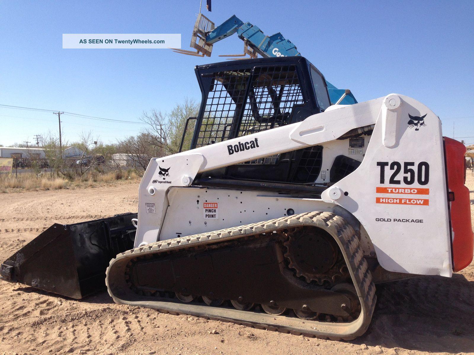 Bobcat Skid Steer Track Loader : Bobcat t track type skid steer loader backhoe ready