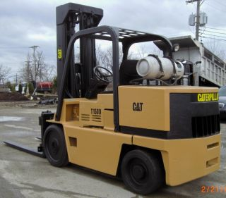 Caterpillar T150d 15,  000 Lift Side Shift Forklift Propane 6 ' Forks Reconditioned photo