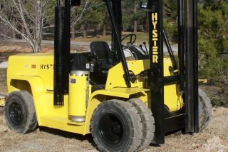 Fork Lift 2005 Hyster Xl155 - 15,  500 Lift,  20 ' Lift High,  8 ' Forks photo