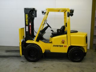 2006 Hyster 9000lb Capacity Forklift Lift Truck Pneumatic Tire Triple Stage Mast photo