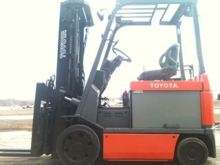 2007 Toyota Electric Cushion 7fbcu30 6000 Lb Forklift Lift Truck photo