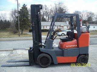 2000 Toyota 10,  000 Lb.  Forklift W/6 Cyl.  Vortec Engine 522 photo