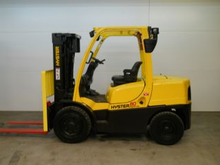 2007 Hyster 8000lb Capacity Forklift Lift Truck Pneumatic Tire Triple Stage Mast photo