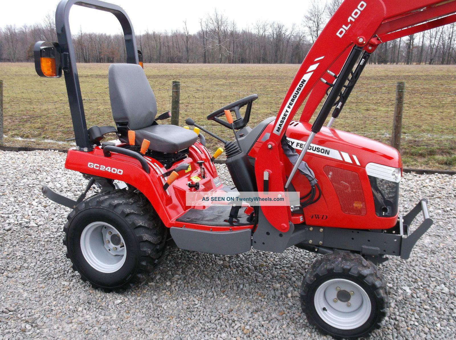 Massey Ferguson 2400 : Massey ferguson gc compact tractor front