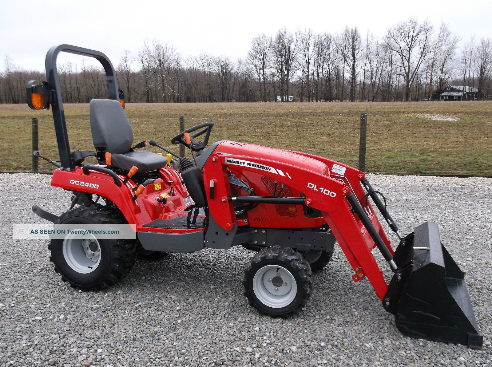 2012 Massey Ferguson Gc 2400 Compact Tractor & Front Loader - 4x4 Tractors photo