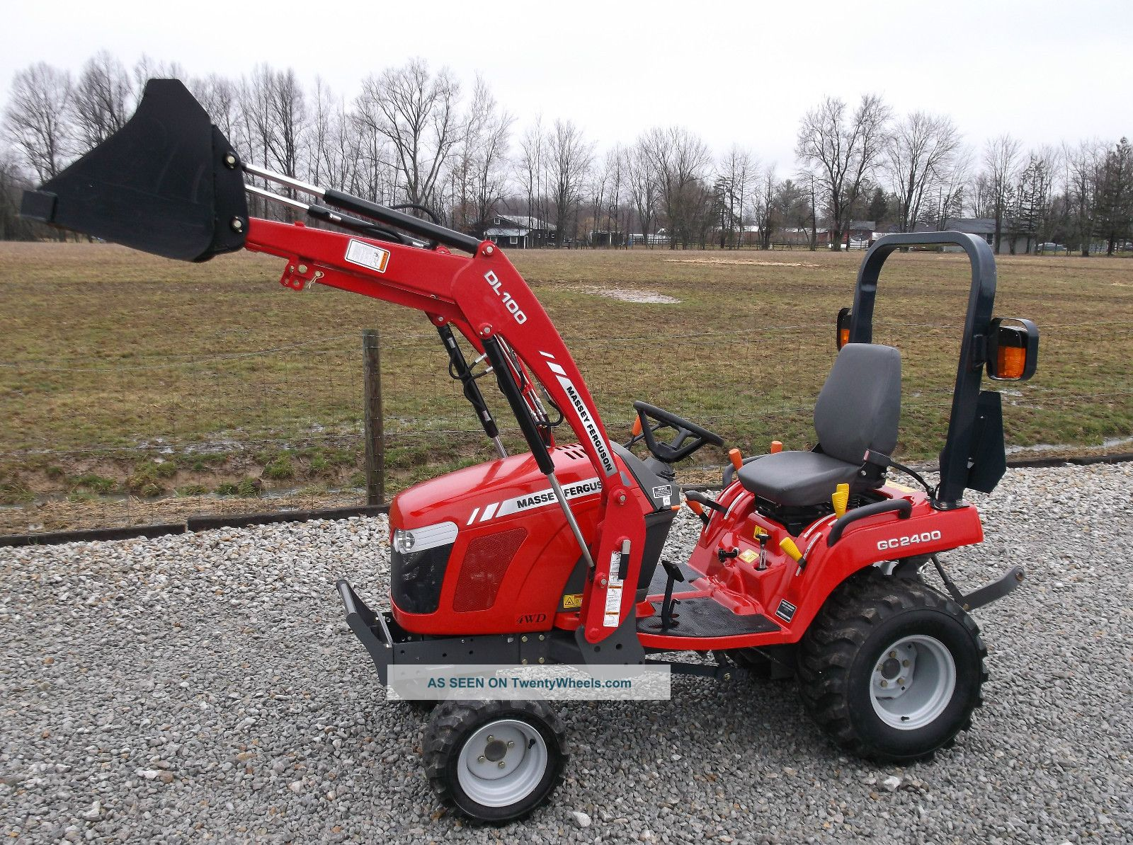2012 massey ferguson gc 2400 compact tractor front loader 4x4