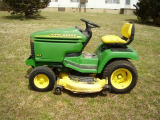 John Deere 345 Water Cooled 48 Inch Cut Power Steering Riding Mower photo