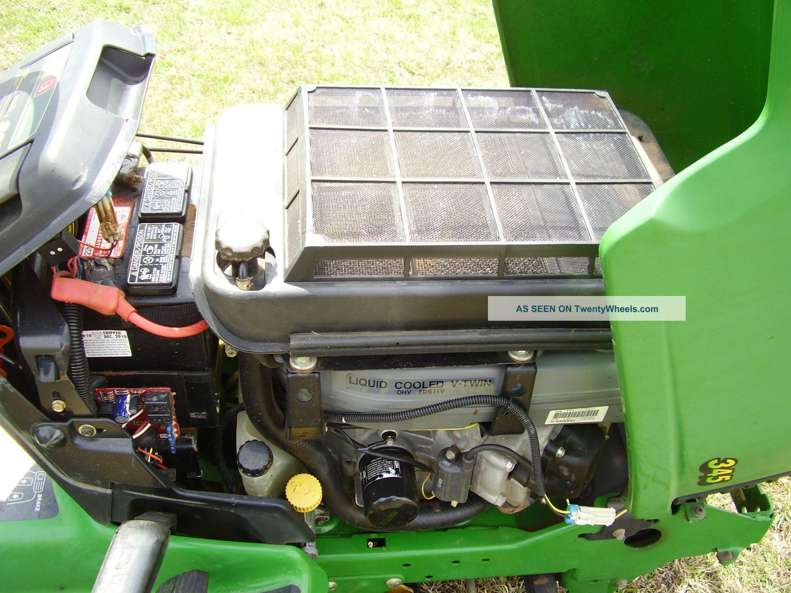 john deere 345 water cooled 48 inch cut power steering riding mowerJohn Deere 345 Engine Diagram #12