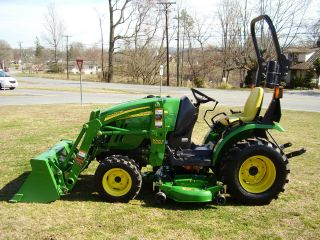 John Deere 2320 4x4 Loader Tractor With Mower Deck photo