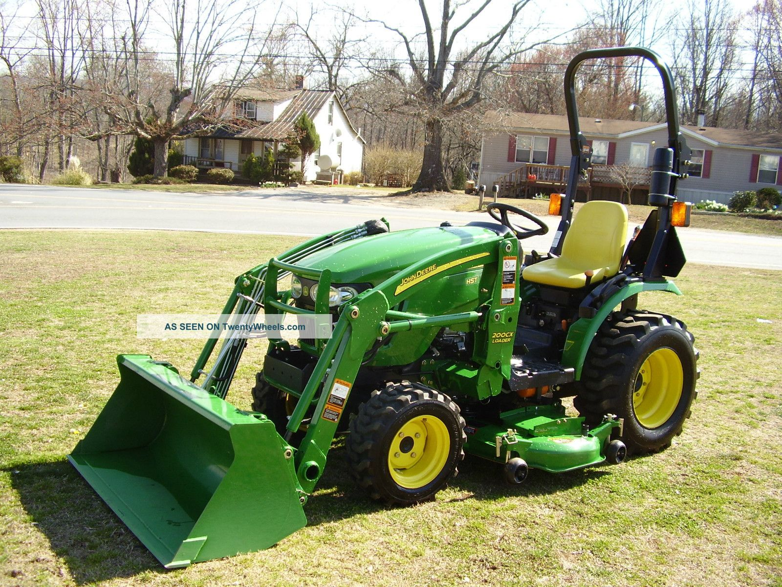 John Deere Mowing Tractors : John deere loader tractor with mower deck