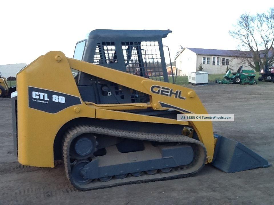 Gehl Ctl80 Rubber Track Skid Loader Tractor Bob Cat Diesel