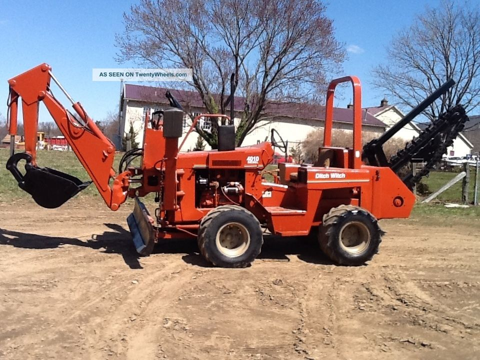 Ditch Witch 4010 Trencher 6 Way Dozer Blade Plow Backhoe Hoe