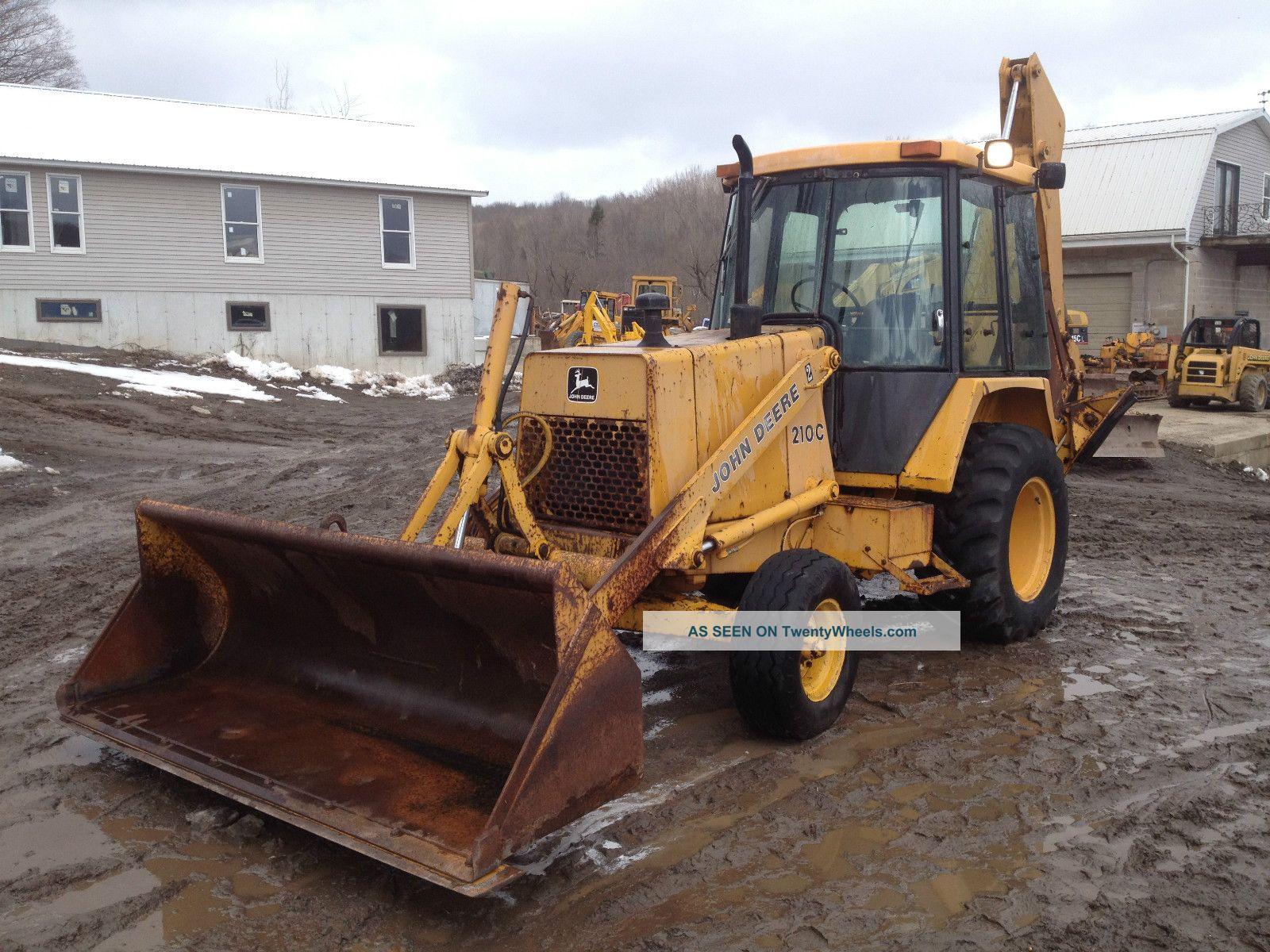 John Deere 210c Backhoe Excavator Loader Dozer Trackhoe Price Backhoe Loaders photo