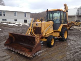John Deere 210c Backhoe Excavator Loader Dozer Trackhoe Price photo