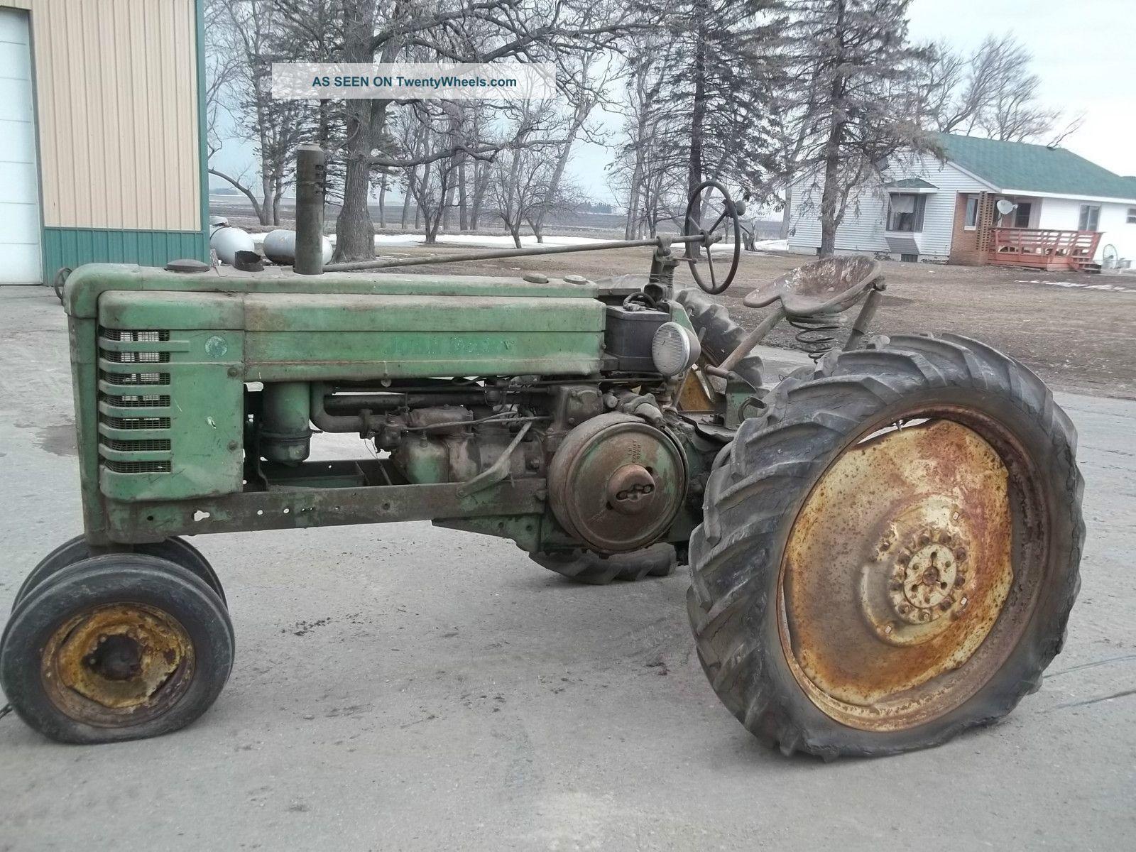Rare John Deere Tractors : John deere b slant dash tractor very rare push button