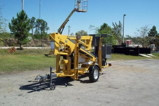 Nifty Tm34t Telescopic Boom Lift,  40 ' Working Height,  Gas & Battery Power,  2006 photo