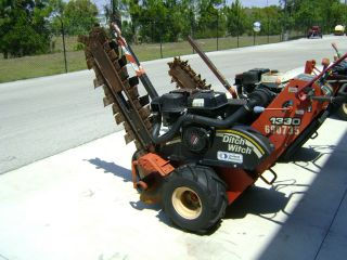 Ditch Witch 1330h Walk Behind Trencher,  2007,  Hydrostatic Drive,  No Belts,  36
