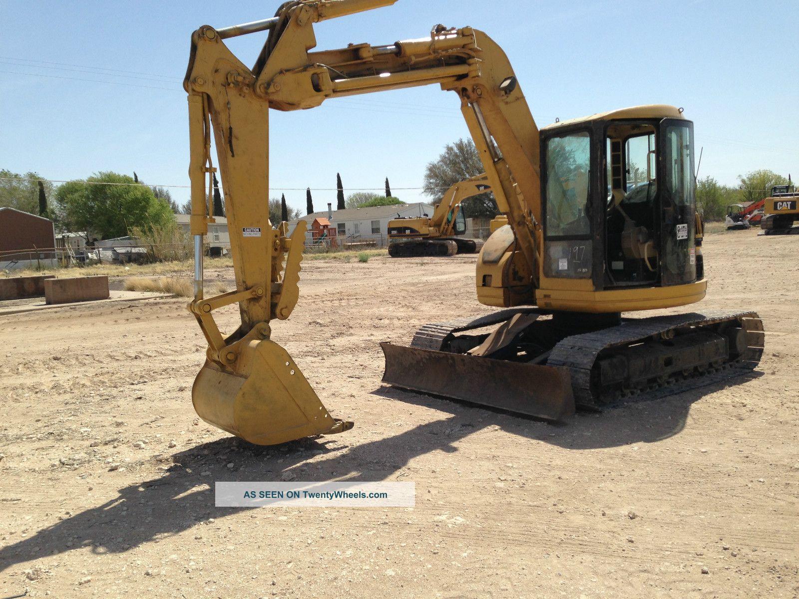 Caterpillar 308b Hydraulic Excavator Crawler Tractor Dozer Loader 308 B Cab Excavators photo