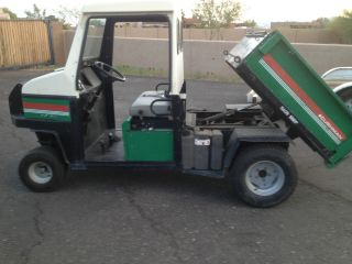 Jacobsen Cushman Turf Truckster W Dump Bed And Cab Works Great 27 Hp Dump Truck photo