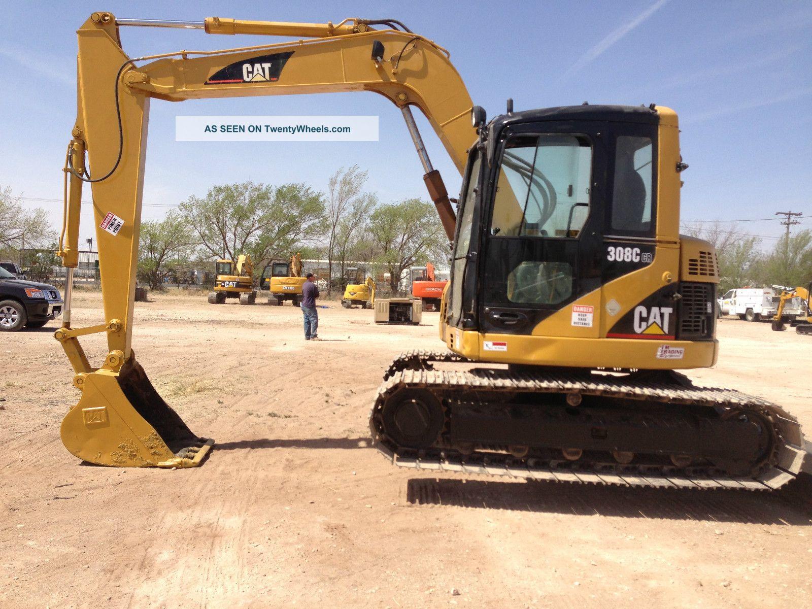 Caterpillar 308c Hydraulic Excavator Crawler Tractor Dozer Loader 308 C Cab Excavators photo